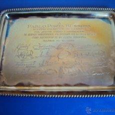 Coleccionismo deportivo: (F-077)BANDEJA DE PLATA (712 GRS.) DE LA REAL FEDERACION ESPAÑOLA DE FUTBOL A PABLO PORTA. Lote 47298489