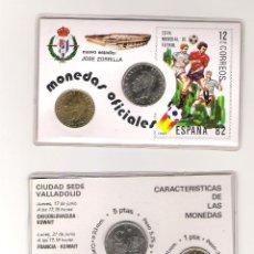 Coleccionismo deportivo: CARNET MUNDIAL FUTBOL 1982 NUEVO ESTADIO JOSE ZORRILLA,SEDE VALLADOLID,MONEDAS OFICIALES. Lote 183512270