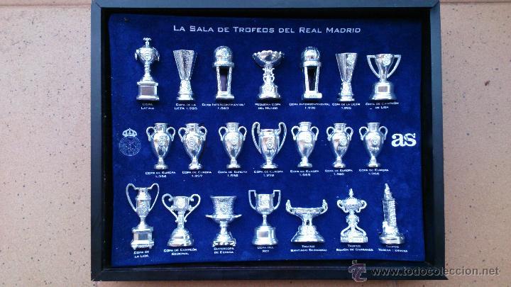 COLECCIÓN COPAS TROFEOS MINIATURA REAL MADRID DEL AS (Coleccionismo Deportivo - Medallas, Monedas y Trofeos de Fútbol)