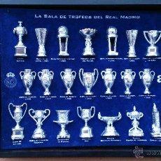 Coleccionismo deportivo: COLECCIÓN COPAS TROFEOS MINIATURA REAL MADRID DEL AS. Lote 49138396
