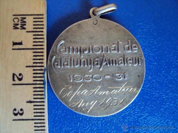 Coleccionismo deportivo: (F-0581)MEDALLA DE PLATA CAMPIONAT DE CATALUNYA DE FOOT-BALL 1930-31,COPA AMATEUR - Foto 2 - 49285506