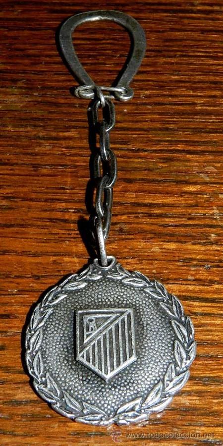 ANTIGUO LLAVERO DE PLATA DEL ATLETICO DE MADRID CON LA LAUREADA, EXCEPCIONAL, VER TODAS LAS FOTOGRA (Coleccionismo Deportivo - Medallas, Monedas y Trofeos de Fútbol)