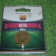 Coleccionismo deportivo: MONEDA DE METAL FC BARCELONA AÑO 2011 12 KEITA. Lote 53448479