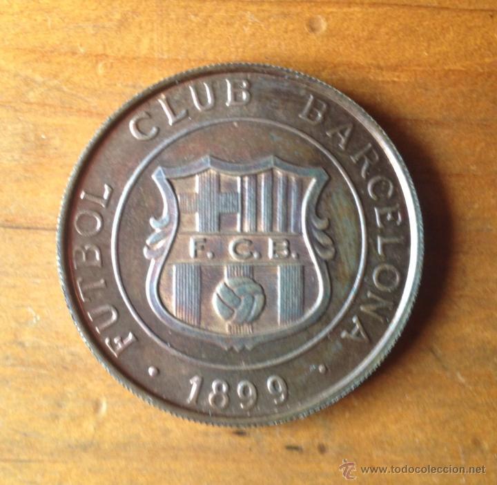 ANTIGUA MONEDA FÚTBOL CLUB BARCELONA - CAMPIONAT DE LLIGA 1984-85 (Coleccionismo Deportivo - Medallas, Monedas y Trofeos de Fútbol)