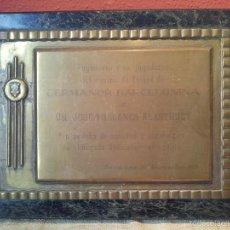 Coleccionismo deportivo: PLACA CONMEMORATIVA JUGADORES FUTBOL GERMANOR BARCELONINA A JOSE MILLANES ALASTRUEY 1974. Lote 55383171