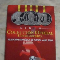 Coleccionismo deportivo: COLECCION DE MONEDAS ALBUM COLECCION OFICIAL CONMEMORATIVA SELECCION ESPAÑOLA FUTBOL 2000. Lote 55814845