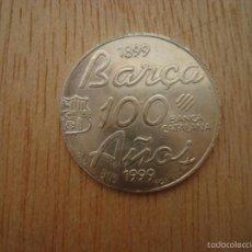 Coleccionismo deportivo: MONEDA MONEDAS EN PLATA FC BARCELONA MONEDES DEL BARÇA CENTENARI CENTENARIO 1899 1990 RONALDO 1996. Lote 96016768
