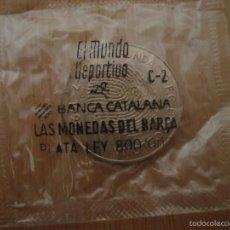 Coleccionismo deportivo: MONEDA MONEDAS EN PLATA FC BARCELONA MONEDES BARÇA FUNDACIÓN FUNDACIÓ 1994 JOSEP LLUIS NUÑEZ 1978. Lote 96016776