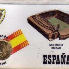 Coleccionismo deportivo: MONEDA OFICIAL CONMEMORATIVA MUNDIAL FÚTBOL ESPAÑA 82 ESTADIO SAN MAMÉS BILBAO. . Lote 57605389