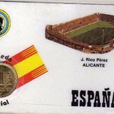 Coleccionismo deportivo: MONEDA OFICIAL CONMEMORATIVA MUNDIAL FÚTBOL ESPAÑA 82 ESTADIO J RICO PÉREZ. ALICANTE. Lote 57605453