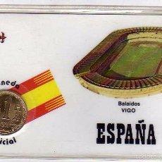 Coleccionismo deportivo: MONEDA OFICIAL CONMEMORATIVA MUNDIAL FÚTBOL ESPAÑA 82 ESTADIO BALAIDOS. VIGO. . Lote 57605671