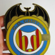 Coleccionismo deportivo: RARISIMA GRAN PLACA LATON ESMALTADO ESCUDO CLUB DEPORTIVO C.D CARTTO TORRENT TORRENTE VALENCIA. Lote 58021525