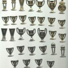 Coleccionismo deportivo: OPORTUNIDAD COLECCION DE TROFEOS DEL REAL MADRID EN DORADO Y PLATEADO LOS DE LA FOTO. Lote 58240536