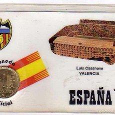 Coleccionismo deportivo: MONEDA OFICIAL CONMEMORATIVA MUNDIAL FÚTBOL ESPAÑA 82 ESTADIO LUIS CASANOVA . VALENCIA. Lote 60105235