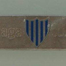 Coleccionismo deportivo: PLACA DE METAL ESCUDO MALAGA CLUB DE FUTBOL ABONADO TEMPORADA 2002/03 – COLECCIONISTAS . Lote 65442630