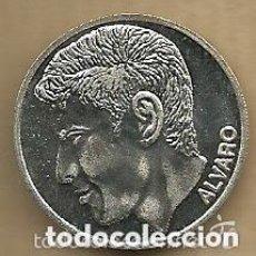 Coleccionismo deportivo: MONEDA DE PLATA 0,925 - ALVARO GUTIERREZ (REAL VALLADOLID 1996-97) - 5 GR. 25 MM DIAMETRO - NUEVA. Lote 65453230