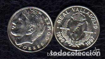 Coleccionismo deportivo: MONEDA DE PLATA 0,925 - JAVI TORRES GOMEZ (REAL VALLADOLID 1996-97) - 5 GR. 25 MM DIAMETRO - NUEVA - Foto 2 - 65453414
