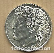 MONEDA DE PLATA 0,925 - JUAN CARLOS (REAL VALLADOLID 1996-97) - 5 GR. 25 MM DIAMETRO - NUEVA (Coleccionismo Deportivo - Medallas, Monedas y Trofeos de Fútbol)