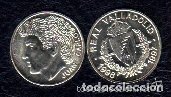 Coleccionismo deportivo: MONEDA DE PLATA 0,925 - JUAN CARLOS (REAL VALLADOLID 1996-97) - 5 GR. 25 MM DIAMETRO - NUEVA - Foto 2 - 65454522