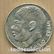 MONEDA DE PLATA 0,925 - JULIO CESAR (REAL VALLADOLID 1996-97) - 5 GR. 25 MM DIAMETRO - NUEVA (Coleccionismo Deportivo - Medallas, Monedas y Trofeos de Fútbol)