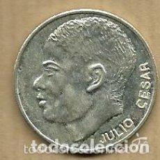 Coleccionismo deportivo: MONEDA DE PLATA 0,925 - JULIO CESAR (REAL VALLADOLID 1996-97) - 5 GR. 25 MM DIAMETRO - NUEVA. Lote 65454690