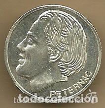 MONEDA DE PLATA 0,925 - ALEN PETERNAC (REAL VALLADOLID 1996-97) - 5 GR. 25 MM DIAMETRO - NUEVA (Coleccionismo Deportivo - Medallas, Monedas y Trofeos de Fútbol)