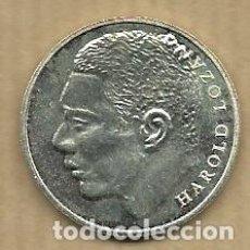 Coleccionismo deportivo: MONEDA DE PLATA 0,925 - HAROLD LOZANO (REAL VALLADOLID 1996-97) - 5 GR. 25 MM DIAMETRO - NUEVA. Lote 65455270