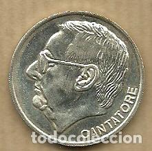 MONEDA DE PLATA 0,925 - VICENTE CANTATORE (REAL VALLADOLID 1996-97) - 5 GR. 25 MM DIAMETRO - NUEVA (Coleccionismo Deportivo - Medallas, Monedas y Trofeos de Fútbol)