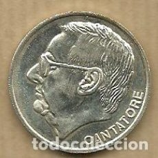 Coleccionismo deportivo: MONEDA DE PLATA 0,925 - VICENTE CANTATORE (REAL VALLADOLID 1996-97) - 5 GR. 25 MM DIAMETRO - NUEVA. Lote 65455418