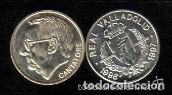 Coleccionismo deportivo: MONEDA DE PLATA 0,925 - VICENTE CANTATORE (REAL VALLADOLID 1996-97) - 5 GR. 25 MM DIAMETRO - NUEVA - Foto 2 - 65455418