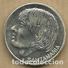 Coleccionismo deportivo: MONEDA DE PLATA 0,925 - SANTAMARIA (REAL VALLADOLID 1996-97) - 5 GR. 25 MM DIAMETRO - NUEVA. Lote 65455542