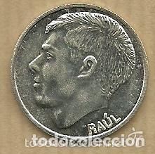 MONEDA DE PLATA 0,925 - RAUL (REAL VALLADOLID 1996-97) - 5 GR. 25 MM DIAMETRO - NUEVA (Coleccionismo Deportivo - Medallas, Monedas y Trofeos de Fútbol)