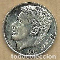 Coleccionismo deportivo: MONEDA DE PLATA 0,925 - EDU DOS SANTOS (REAL VALLADOLID 1996-97) - 5 GR. 25 MM DIAMETRO - NUEVA. Lote 65456042