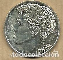 MONEDA DE PLATA 0,925 - PEÑA (REAL VALLADOLID 1996-97) - 5 GR. 25 MM DIAMETRO - NUEVA (Coleccionismo Deportivo - Medallas, Monedas y Trofeos de Fútbol)