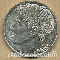 Coleccionismo deportivo: MONEDA DE PLATA 0,925 - PEÑA (REAL VALLADOLID 1996-97) - 5 GR. 25 MM DIAMETRO - NUEVA. Lote 65456478