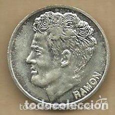 Coleccionismo deportivo: MONEDA DE PLATA 0,925 - RAMON (REAL VALLADOLID 1996-97) - 5 GR. 25 MM DIAMETRO - NUEVA. Lote 65456734