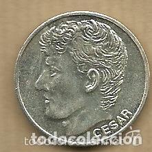 MONEDA DE PLATA 0,925 - CESAR SANCHEZ (REAL VALLADOLID 1996-97) - 5 GR. 25 MM DIAMETRO - NUEVA (Coleccionismo Deportivo - Medallas, Monedas y Trofeos de Fútbol)