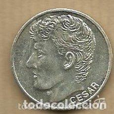 Coleccionismo deportivo: MONEDA DE PLATA 0,925 - CESAR SANCHEZ (REAL VALLADOLID 1996-97) - 5 GR. 25 MM DIAMETRO - NUEVA. Lote 65456862