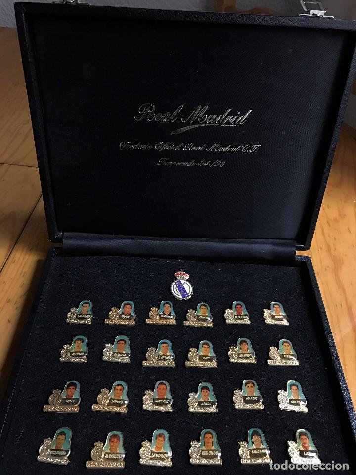 LUJOSO ESTUCHE CONMEMORATIVO DEL REAL MADRID TEMPORADA 94/95 (Coleccionismo Deportivo - Medallas, Monedas y Trofeos de Fútbol)