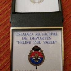 """Coleccionismo deportivo: PLACA INAUGURACION ESTADIO MUNICIPAL """"FELIPE DEL VALLE"""", LA RINCONADA SEVILLA 1992. Lote 73814218"""
