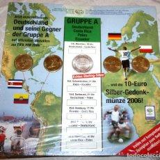 Coleccionismo deportivo: 5 MEDALLAS CAMPEONATO MUNDIAL FÚTBOL 2006 FIFA ALEMANIA GRUPO A. NUEVAS.ORIGINAL CON PRECINTO. Lote 74963051