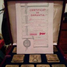 Coleccionismo deportivo: COLECCION COMPLETA MEDALLAS DEL FUTBOL CLUB FC BARCELONA F.C BARÇA CF ESTUCHE ORIGINAL CERTIFICADO. Lote 79623169