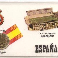 Coleccionismo deportivo: ESPAÑA 82 ESTADIO R.C.D. ESPAÑOL BARCELONA (MONEDA OFICIAL 1 PTA COBRE J. CARLOS I) VISITAR REVERSO. Lote 87067576