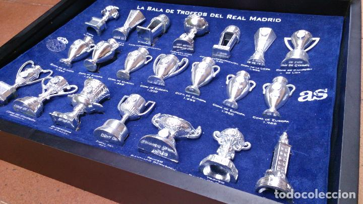 Coleccionismo deportivo: Colección copas trofeos miniatura Real Madrid del AS - Foto 6 - 49138396