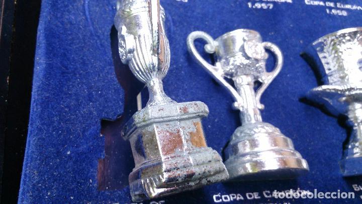 Coleccionismo deportivo: Colección copas trofeos miniatura Real Madrid del AS - Foto 7 - 49138396
