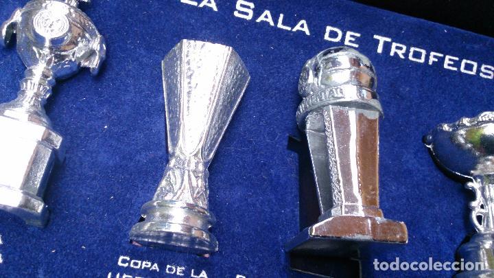 Coleccionismo deportivo: Colección copas trofeos miniatura Real Madrid del AS - Foto 8 - 49138396