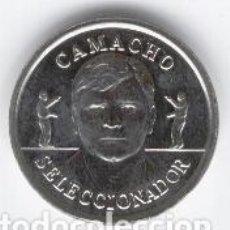 Coleccionismo deportivo: COLECCIÓN OFICIAL DE MEDALLAS DE LA SELECCIÓN ESPAÑOLA DE FÚTBOL. AÑO 2.000. CAMACHO. Lote 91792580