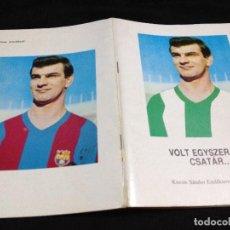 Coleccionismo deportivo: CAJA2 LIBRETO DE SANDOR KOKCSIS ANTES DE FICHAR POR FUTBOL CLUB FC BARCELONA CF BARÇA F.C . Lote 93748725
