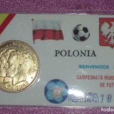 Coleccionismo deportivo: CAMPEONATO MUNDIAL DE FUTBOL ESPAÑA 1982 MONEDA POLONIA EXCELENTE ESTADO. Lote 94690339