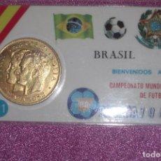 Coleccionismo deportivo: CAMPEONATO MUNDIAL DE FUTBOL ESPAÑA 1982 MONEDA BRASIL EXCELENTE ESTADO. Lote 94690495